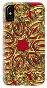 Gold Broach IPhone Case