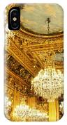 Gold Ceiling And Chandeliers IPhone Case