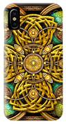 Gold Celtic Cross IPhone X Case