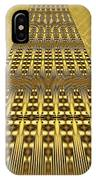 Gold Metallic 9 IPhone Case