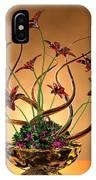 Gold Spirals Glass Flowers IPhone Case