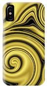 Gold Swirl IPhone Case