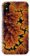 Golden And Black Fractal Universe IPhone Case