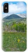 Golden Banner In Horseshoe Park In Rocky Mountain Np-co- IPhone Case