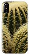 golden barrel cactus Mexico IPhone Case