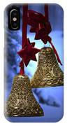 Golden Bells Blue Greeting Card IPhone Case