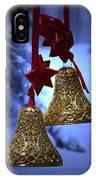 Golden Bells Purple Greeting Card IPhone Case