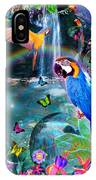 Golden Bluebirds Paradise Version 2 IPhone Case