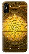 Golden-briliant Sri Yantra IPhone X Case