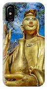 Golden Buddha Statue IPhone Case