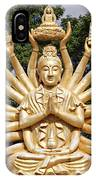 Golden Buddha With Many Arms IPhone Case