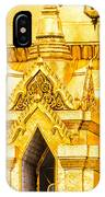 Golden Chedi - Temple Of The Emerald Buddha IPhone Case