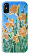 Golden Daffodils IPhone Case