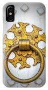 Golden Door Knocker Vignette IPhone Case