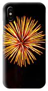 Golden Fireworks Flower IPhone Case
