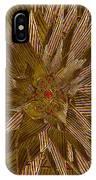 Golden Flower - Ruby Heart IPhone Case