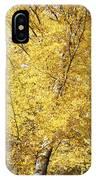 Golden Foliage IPhone Case