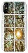 Golden Forest  Branches White 8 Windowpane View IPhone Case