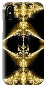 Golden Fractal IPhone Case