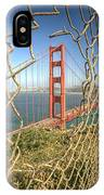 Golden Gate Through The Fence IPhone X Case by Scott Norris