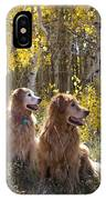 Golden Goldens - Golden Retriever Brothers - Casper Mountain - Casper Wyoming IPhone Case
