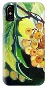 Golden Grapes IPhone Case