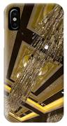 Golden Jewels And Gems - Sparkling Crystal Chandeliers  IPhone Case