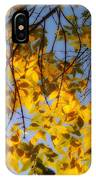 Golden Leaf Cascade IPhone Case