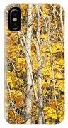 Golden Leaves In Autumn Abstract IPhone Case