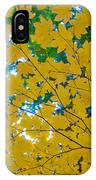 Golden Leaves Of Autumn IPhone Case