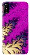 Golden Leaves On Flower IPhone Case