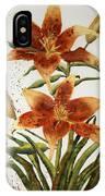 Golden Lilies IPhone Case