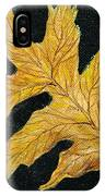 Golden Oak Leaf IPhone Case