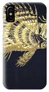 Golden Parrot Fish On Charcoal Black IPhone Case