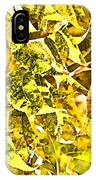 Golden Pecan Leaves Abstract IPhone Case