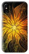 Golden Poinsettia IPhone Case