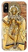 Golden Sculpture In A Hindu Temple In Patan Durbar Square In Lalitpur-nepal IPhone Case