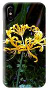 Golden Spider Lily IPhone Case