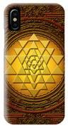 Golden  Sri Lakshmi Yantra IPhone X Case