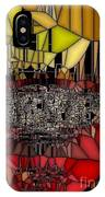 Golden Stained Abstract IPhone Case