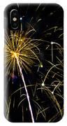 Golden Starburst IPhone Case
