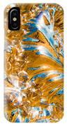 Golden Steel Swirl IPhone Case