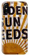 Golden Sun Feeds IPhone Case