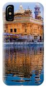 Golden Temple With Reflection IPhone Case