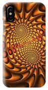 Golden Vortex IPhone Case
