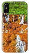 Golden Waterfall Landscape  IPhone Case