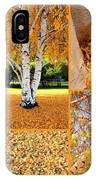 Golden Weeping Birch Tree Collage IPhone Case