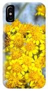 Golden Yarrow And Visitor IPhone Case