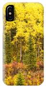 Golden Yellow Fall Boreal Forest In Yukon Canada IPhone Case