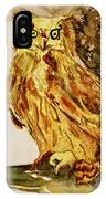 Goldene Bier Eule IPhone Case